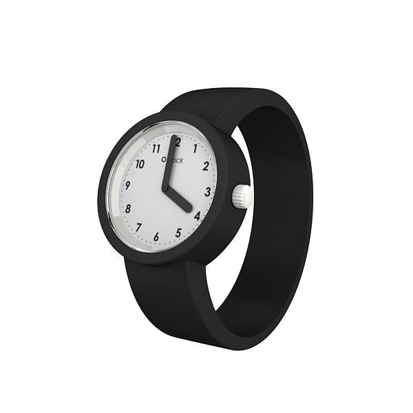 Numbers White Dial:Black Strap