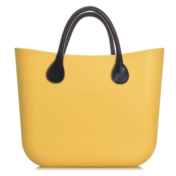 O Bag Mini Yellow '50 Leather Black