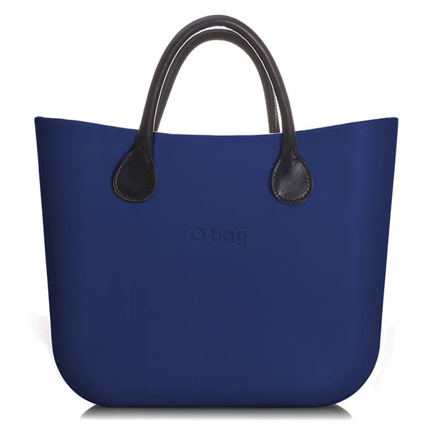 O Bag Mini Ocean Blue Leather Black