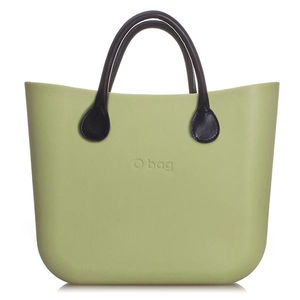 O Bag Mini Sage Leather Black
