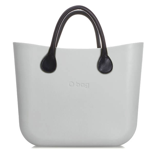 O Bag Mini Silver Grey Leather Black